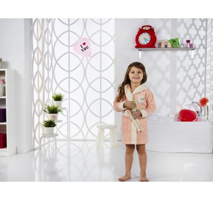 Karna Snop детский халат с капюшоном (абрикосовый)