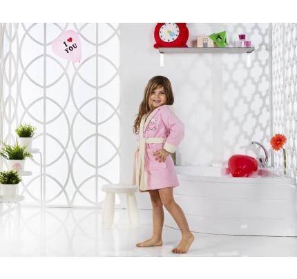 Karna Snop детский халат с капюшоном (розовый)