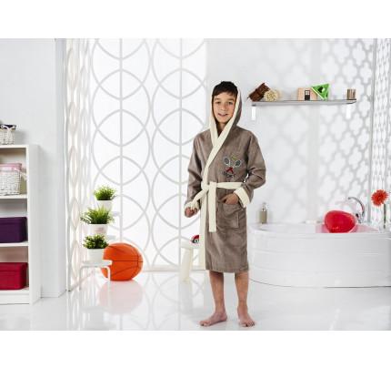 Karna Snop подростковый халат с капюшоном (кофейный)