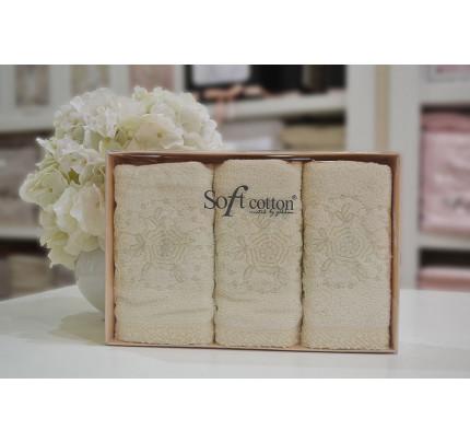 Салфетки Soft Cotton Yonca (кремовый, 3 предмета) 32x50