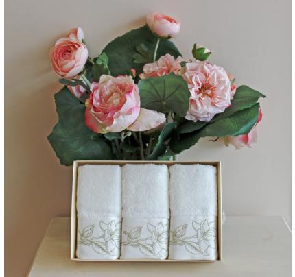 Салфетки Soft Cotton Viola (золотой, 3 предмета) 32x50