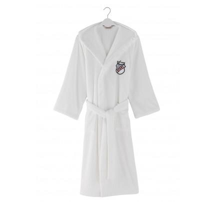 Халат мужской Soft Cotton Soho Sport (белый)