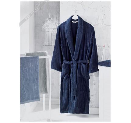 Халат мужской Soft Cotton Sortie (темно-синий)