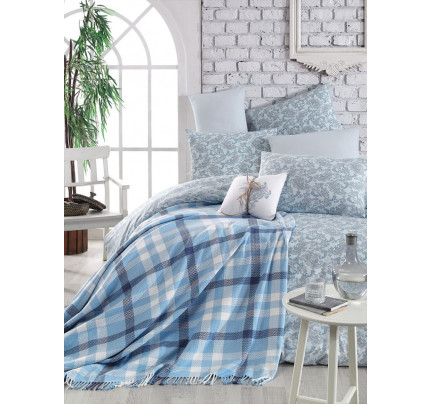 Постельное белье Arya Squart (голубое)