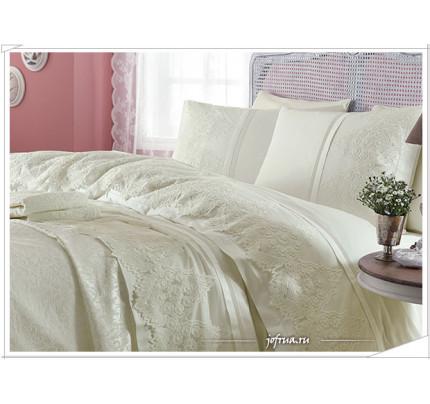 Свадебное постельное белье Gelin Home Donna (шампань) евро