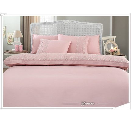 Свадебное постельное белье Bella (розовое) евро