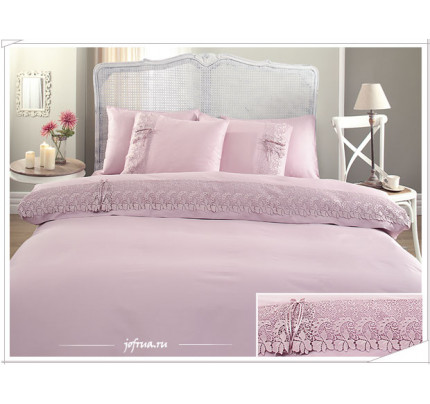 Свадебное постельное белье Gelin Home Caroline (лиловое) евро