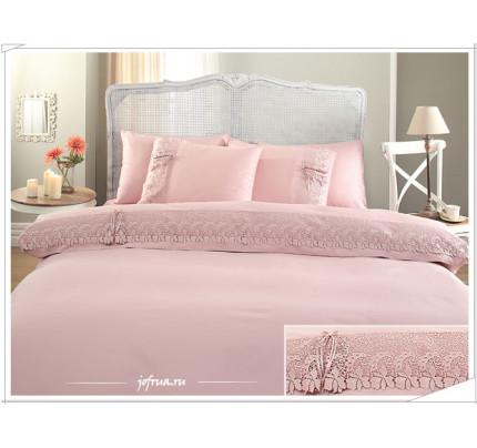 Свадебное постельное белье Gelin Home Caroline (розовое) евро