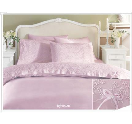 Свадебное постельное белье Gelin (лиловое) евро