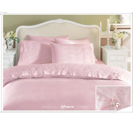 Свадебное постельное белье Gelin (розовое) евро
