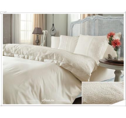 Свадебное постельное белье Gelin Home Narin (шампань) евро