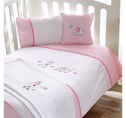 Набор в кроватку с покрывалом TAC Happy Friends