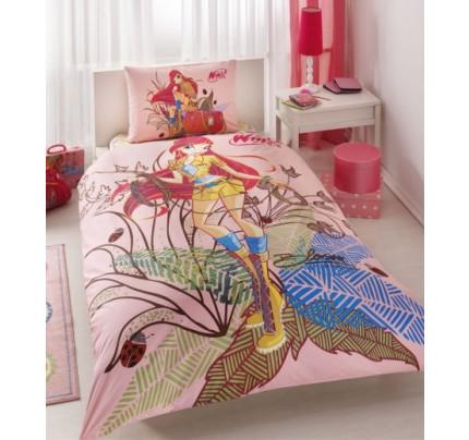 Детское постельное белье TAC Winx Bloom Nature Love