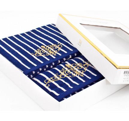 Набор полотенец Tivolyo Casablanca (синий) 2 предмета
