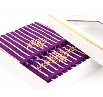Набор полотенец Tivolyo Casablanca (фиолетовый) 2 предмета