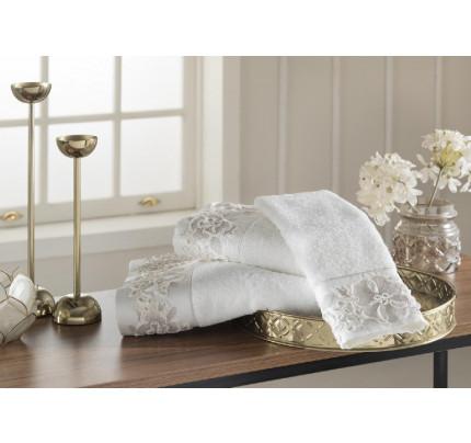 Набор полотенец Tivolyo Home Cordelia (пудра) 3 предмета