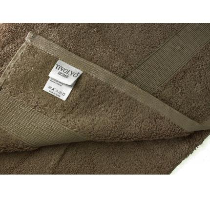 Полотенце Tivolyo Duz (коричневый)