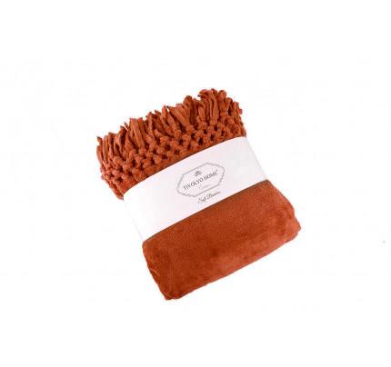 Tivolyo Home Nappa Soft плед (терракотовый)