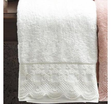 Набор полотенец Tivolyo Olivia (белый) 2 предмета