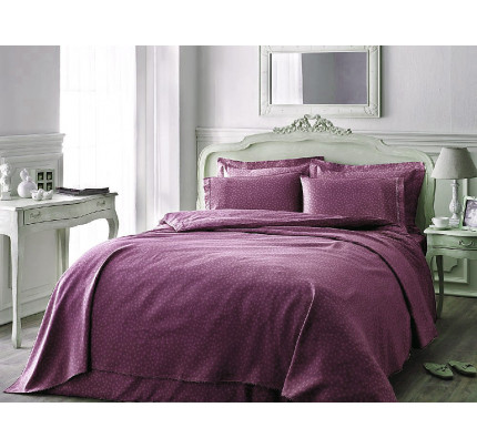 Постельное белье Tivolyo Home Punto (фиолетовое)