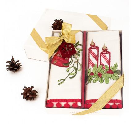 Новогодний набор Tivolyo Home Red Candy (2 предмета, 40x60 см.)