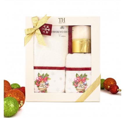 Новогодний набор Tivolyo Home Ribbon Velvet (3 предмета)