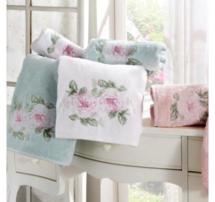 Набор полотенец Tivolyo Rose Nakisli (белый-розовый) 3 предмета