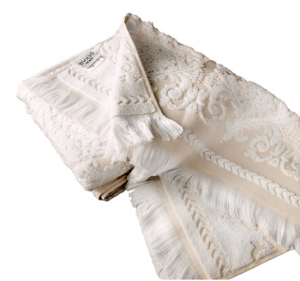 Набор полотенец Tivolyo Sandra (бежевый) 2 предмета