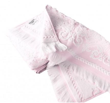 Набор полотенец Tivolyo Sandra (розовый) 2 предмета