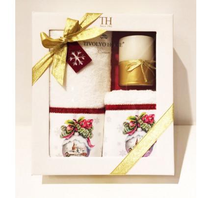 Новогодний набор Tivolyo Home Snowball Velvet (3 предмета)