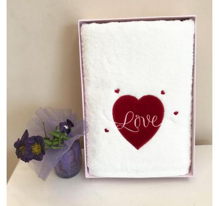 Полотенце Tivolyo White Love 50x100