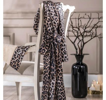 Халат женский Tivolyo Home Leopard размер S-M