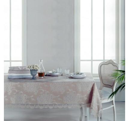Скатерть Tivolyo Serafine (серый) 160x260