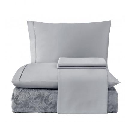 Набор с покрывалом Tivolyo Home Baroc (серый)