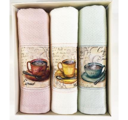 Cалфетки для кухни Tivolyo Cups (3 предмета) 30x50