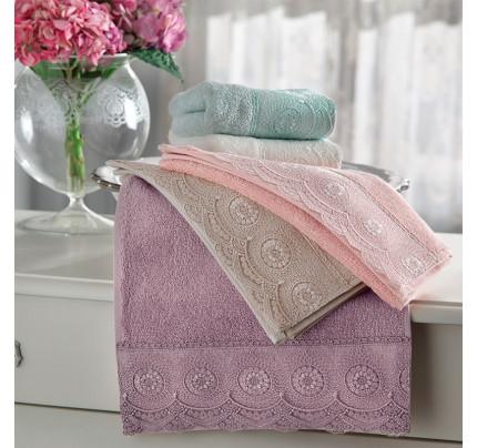 Набор полотенец Tivolyo Butik (розовый) 3 предмета