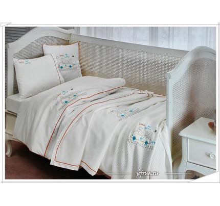 Набор в кроватку с покрывалом Tivolyo Beep