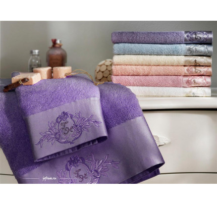 Набор полотенец Tivolyo Crystal Bamboo (3 предмета, сиреневый)