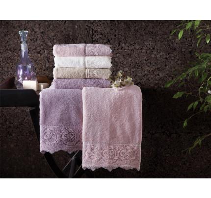 Набор полотенец Tivolyo Elegant (пудра) 2 предмета