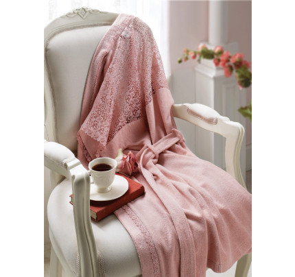 Халат Tivolyo Linda (розовый) размер S-M + полотенце 50x100