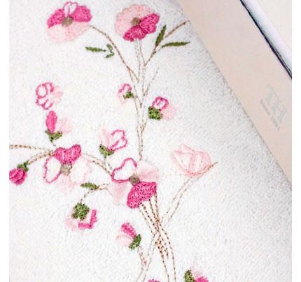 Полотенце Tivolyo Rametto Nakisli (розовое) 50x100