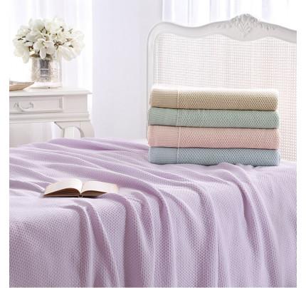 Вязаный плед Tivolyo Home Sera (розовый) 220x250