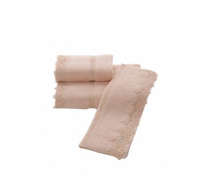 Набор полотенец Soft Cotton Victoria (пудра) 3 предмета