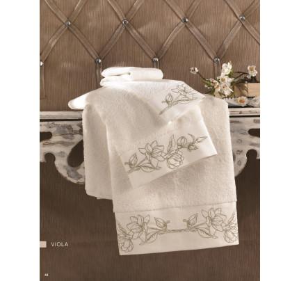 Полотенце Soft Cotton Viola Nakisli (кремовый-золотой)