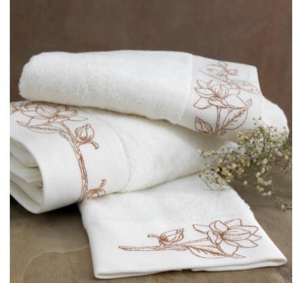 Полотенце Soft Cotton Viola Nakisli (кремовый-бронзовый)