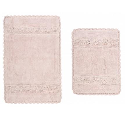 Набор ковриков Irya Waltz pembe (40x60+60x90)