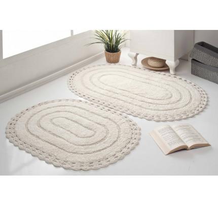 Набор ковриков для ног Modalin Yana (кремовый) 50x70+60x100