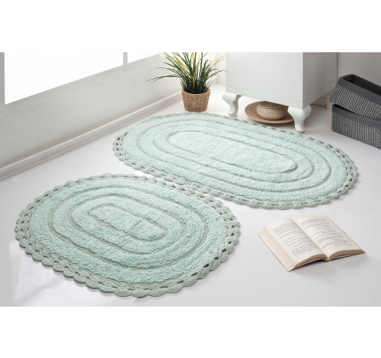 Набор ковриков для ног Modalin Yana (светло-зеленый) 50x70+60x100