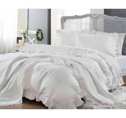 Свадебный набор Gelin Home Yasemin (белый) евро
