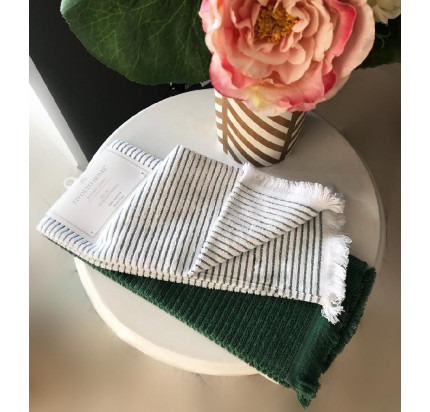 Набор салфеток Tivolyo Home Retro зеленый (45x75, 2 предмета)